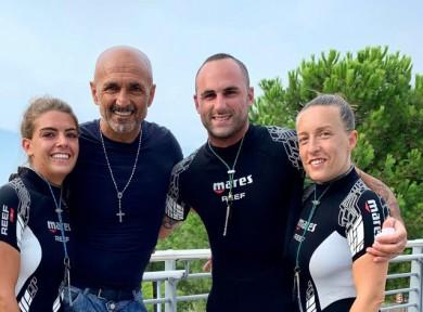 Luciano Spalletti in vacanza a Oltremare